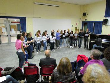 Il coro del liceo Majorana